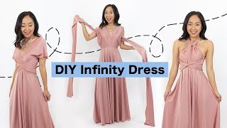 Sewing An Infinity Dress | DIY Bridesmaids Dress (EASY)