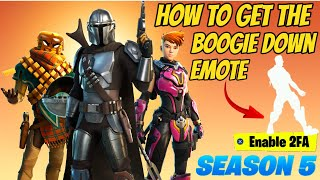How Enable 2FA Fortnite Season 5 Chapter 2 (FREE EMOTE) STILL WORKING