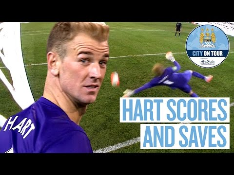 Joe Hart Scores and Saves Penalty v Roma