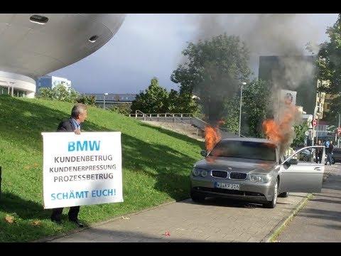 Halter setzt BMW in München aus Protest in Brand. VOL 9