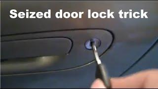 Jammed car door lock  Fix &  maintenance