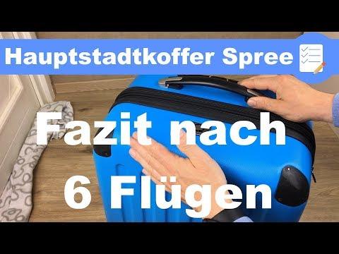 """Test Fazit nach 6 Flügen - Reisekoffer: Hauptstadtkoffer """"Spree"""" / """"Alex"""" im Test (deutsch)"""