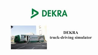 "Powershoots TV ""Positive Projects in Europe\"" - DEKRA presenting Truck-driving Simulator in Geneva"