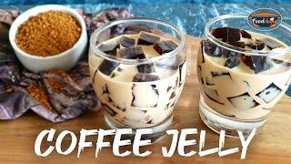 COFFEE JELLY DESSERT   Japanese Jelly Dessert   How To Make Coffee Jelly
