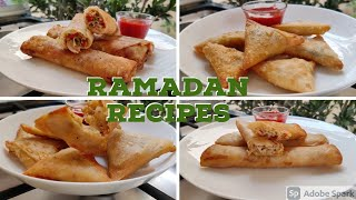 Ramadan Freezer Prep#2 -2 Samosas & 2 Spring Rolls Recipes by Cooking wth Asifa