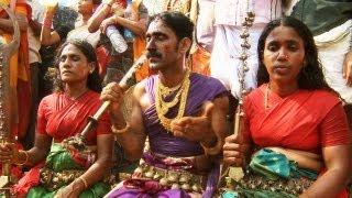 Komarams of Bharani festival at Kodungalloor, Kerala