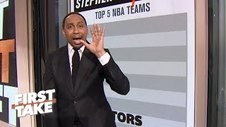 Stephen A.'s List: Top 5 teams in the NBA | First Take