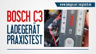 BOSCH C3 Ladegerät Test und Vorstellung am Auto - 12V Autobatterie laden kurz erklärt