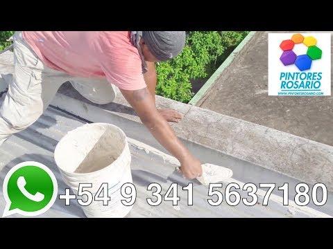 Como sellar un techo de chapas. Impermeabilizaciones en Rosario. ⭐⭐⭐⭐⭐
