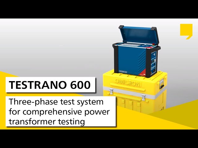 TESTRANO 600 VIDEO at Electricity Forum