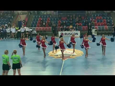 Выступление группы поддержки ПГК ЦСКА Lucky Demons Cheerleaders