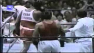 Teofilo Stevenson vs   Valeriy Abadzhyan, Finals +91 kg Friendship Games 1984