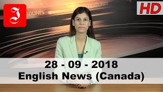News English Canada 28th Sep 2018