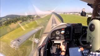 preview picture of video 'Landung in St.Gallen Altenrhein LSZR RW28'