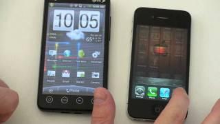 Смотреть онлайн IPhone VS HTC Evo