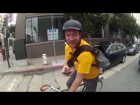 Download A Day In The Life of a Postmates Bike Messenger Mp4 HD Video and MP3
