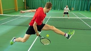 Tennis trick shot