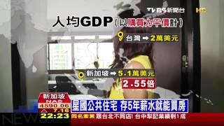 住者有其屋! 新加坡民眾8成住國宅
