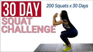 30 DAY SQUAT CHALLENGE - 200 Squats X 30 Days - Home Exercise, Grow Your Booty/legs - FITNESSBYNENA