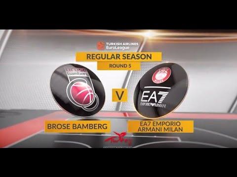 EuroLeague Highlights RS Round 5: Brose Bamberg 106-102 EA7 Emporio Armani Milan