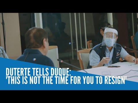 [Inquirer]  Duterte tells Duque: 'This is not the time for you to resign'