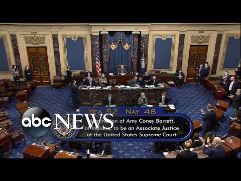 Senate approves Amy Coney Barrett's nomination to Supreme Court