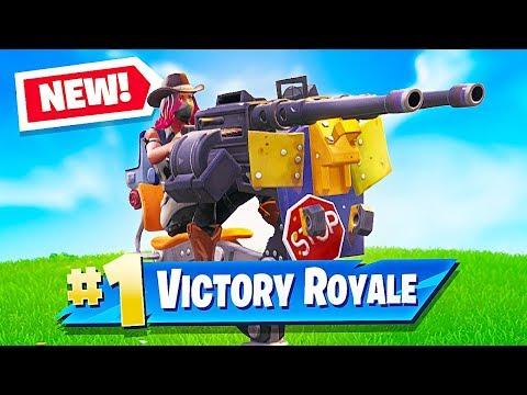 *NEW* Mounted Turret & Food Fight LTM Update in Fortnite Battle Royale! (Fortnite LIVE Gameplay)