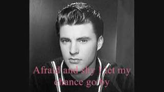 """Video thumbnail of """"Ricky Nelson~You Don't Know Me-With Lyrics"""""""