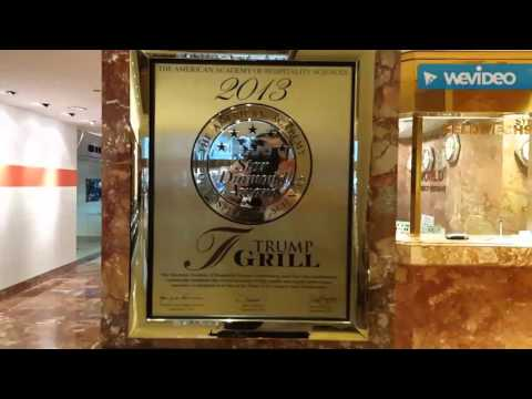 Video Trump Tower, Donald Trumps 5th Fifth Avenue Building - Shopping & Tourist Attraction!!