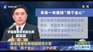 《海峡新干线》郝龙斌参选国民党主席 20200121