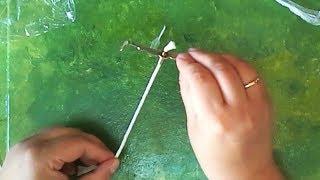 Lifehack. How to insert a wick Как вставить фитиль в масляную лампу