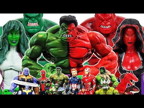 Thanos vs Avengers! Go~! Captain America, Spider-Man, Iron Man, Venom, Hulk, She-Hulk