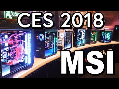 MSI Brought Pre-Builts and New Laptops to CES 2018!