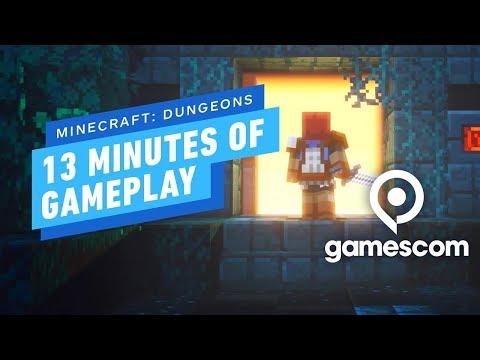 13 Minutes of Minecraft: Dungeons Gameplay – Gamescom 2019