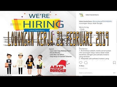 Lowongan Kerja Pekanbaru Riau 21 Februari 2019