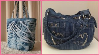New Collection Handbags Fashion Stylish Denim Bag Design