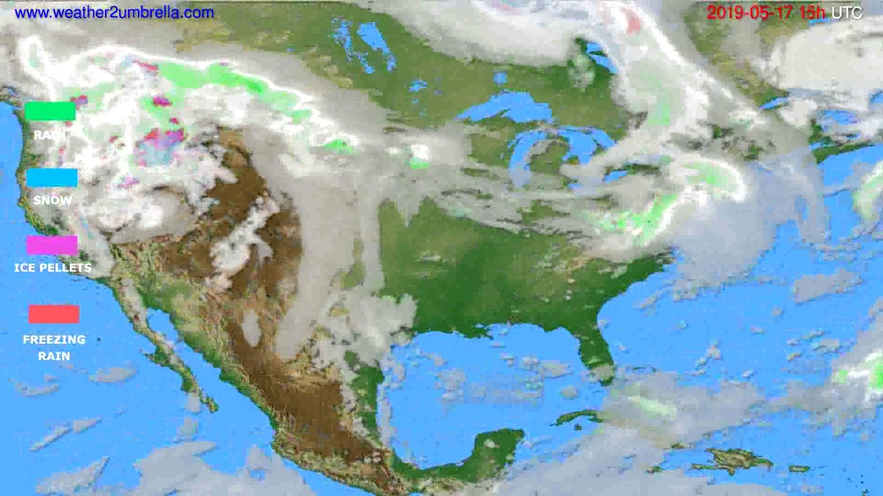Precipitation forecast USA & Canada // modelrun: 12h UTC 2019-05-14