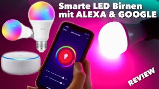 Smarte LED RGB Glühbirnen mit Farbwechsel & Amazon ALEXA, Google Assistant & IFTTT - TEST REVIEW