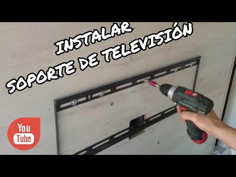COLOCACIÓN SOPORTE TELEVISIÓN A PANEL.