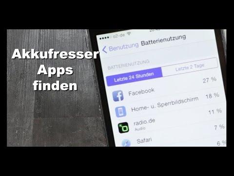 iPhone Akkufresser Apps finden - iOS 8