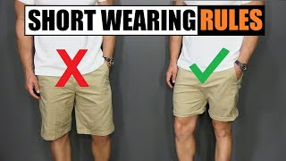 5 Short Wearing Rules ALL Men Should Follow!
