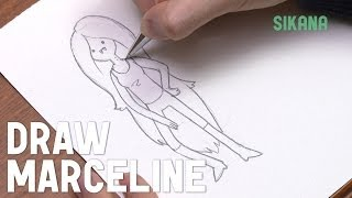 Learn How To Draw Easily: How To Draw Marceline From Adventure Time
