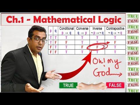 Ch.1 - Mathematical Logic - HSC - MHT CET 2020 Preparation - mathematical reasoning - truth tables
