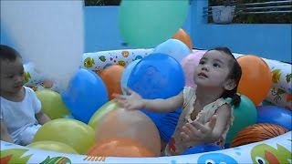 Balloons Pool for Kids - How Excited Kids Playing with Balloons