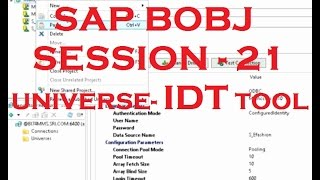 IDT Tool - SAP Business Objects Tutorial (BOBJ) 4.0 - Session - 21 - Universe - Part - 14