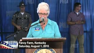 Ky. Lieutenant Governor  Crit Luallen | Fancy Farm 2015 | KET
