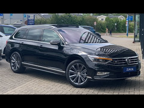 Volkswagen NEW Passat R-Line 2020 in4K Deep Black Pearl 18inch Liverpool walk around & detail inside