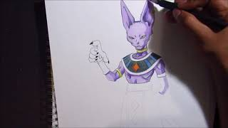 Lord Beerus Vs Vermouth Drawing 123vid
