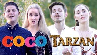 Coco + Tarzan | Remember Me + You'll Be In My Heart | Scott & Ryceejo ft. The Hound + The Fox