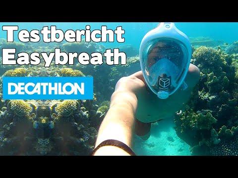 Test Testbericht Easybreath Decathlon Tribord Schnorchelmaske in Ägypten - auf deutsch